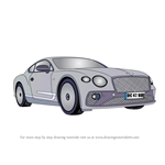 How to Draw Bentley Continental