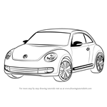 How to Draw Volkswagen Beetle