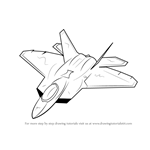 How to Draw Lockheed Martin F-22 Raptor