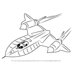 How to Draw Lockheed SR-71 Blackbird