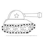 How to Draw a Tank for Kids