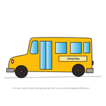 How to Draw a Simple School Bus