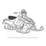 How to Draw a Snowmobile
