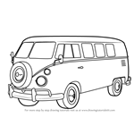 How to Draw Volkswagen Bus