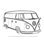 How to Draw Volkswagen Van