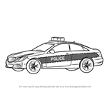 How to Draw a Mercedes Police Car
