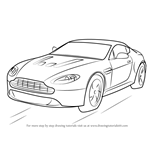 How to Draw Aston Martin V12 Vantage
