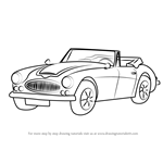 How to Draw Austin-Healey 3000 MK III
