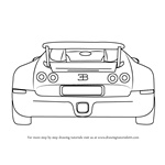 How to Draw a Bugatti Veyron Rear
