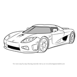 How to Draw Koenigsegg CCX