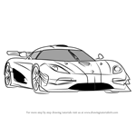 How to Draw Koenigsegg One