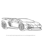 How to Draw Lamborghini Aventador LP750-4 SV Roadster