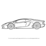 How to Draw Lamborghini Centenario Side View