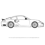 How to Draw a Porsche Car Side View