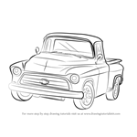 How to Draw a 1955 Chevy Truck