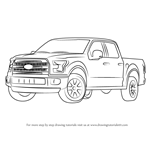 How to Draw Ford F-150 Truck