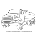 How to Draw a Gasoline Truck