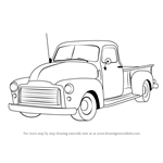 How to Draw a GMC Pickup Truck