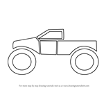 How to Draw a Monster Truck for Kids