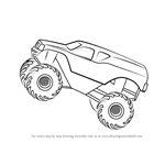 How to Draw MonsterTruck Jump