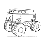 How to Draw a Volkswagen Monster Truck