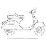 How to Draw a Scooter