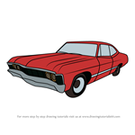 How to Draw 1967 Chevrolet Impala