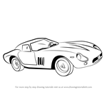 How to Draw Vintage Ferrari