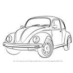 How to Draw Vintage Volkswagen Beetle