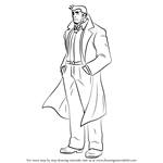 How to Draw Dick Gumshoe from Ace Attorney