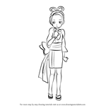 How to Draw Pearl Fey from Ace Attorney