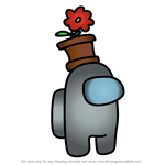 How to Draw Flowerpot from Among Us