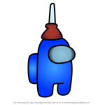 How to Draw Plunger Hat from Among Us