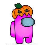 How to Draw Pumpkin from Among Us