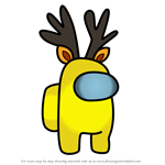 How to Draw Reindeer from Among Us