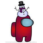 How to Draw Snow Man from Among Us