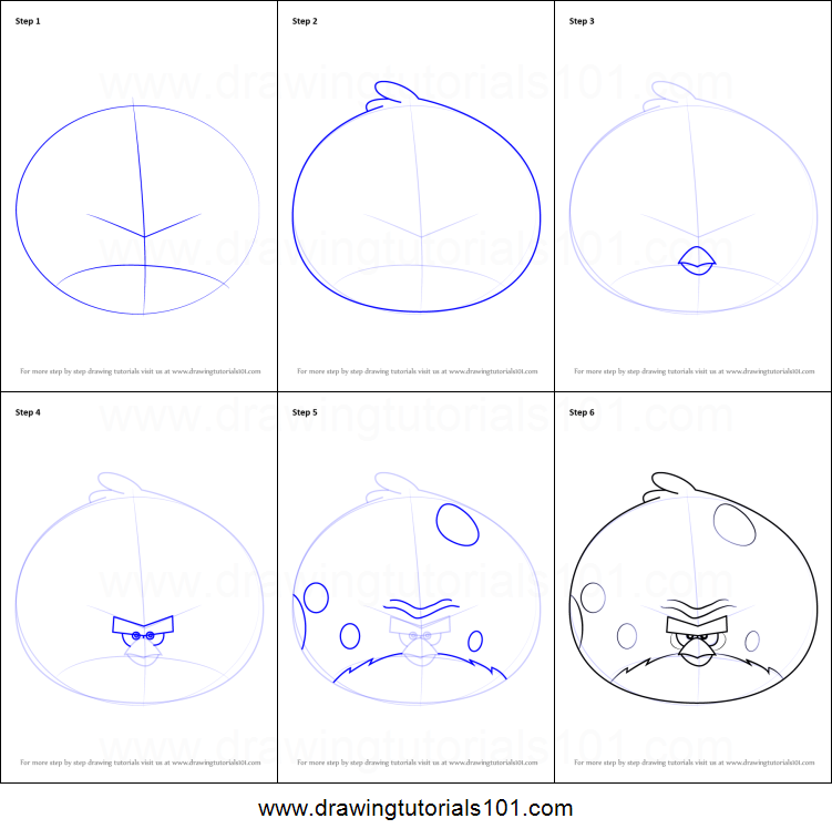 How to Draw Terence from Angry Birds printable step by ...