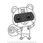 How to Draw Agent S from Animal Crossing