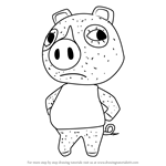 How to Draw Agnes from Animal Crossing