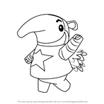 How to Draw Antonio from Animal Crossing