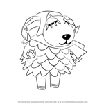 How to Draw Baabara from Animal Crossing