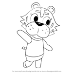 How to Draw Bangle from Animal Crossing