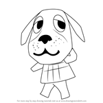 How to Draw Bea from Animal Crossing