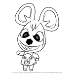 How to Draw Bella from Animal Crossing