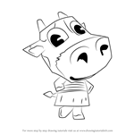 How to Draw Belle from Animal Crossing