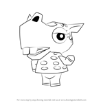 How to Draw Bitty from Animal Crossing