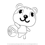 How to Draw Blaire from Animal Crossing
