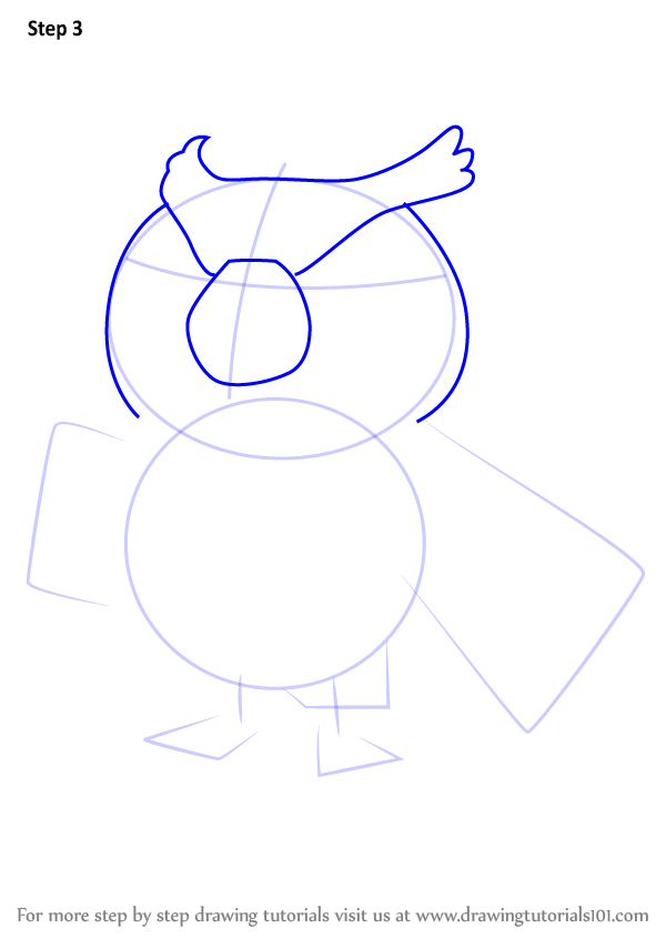 Step by Step How to Draw Blathers from Animal Crossing ...