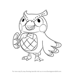 How to Draw Blathers from Animal Crossing