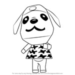 How to Draw Bow from Animal Crossing